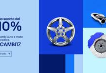 100€ di sconto su ricambi e accessori auto