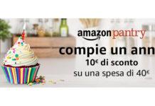 10 euro di sconto Amazon Pantry